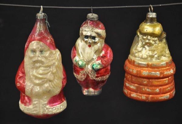 20: Antique Santa Christmas Ornaments