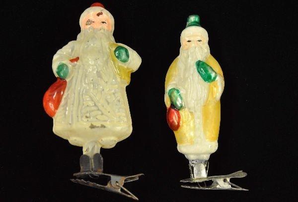 22: Antique Santa Clip-On Ornaments