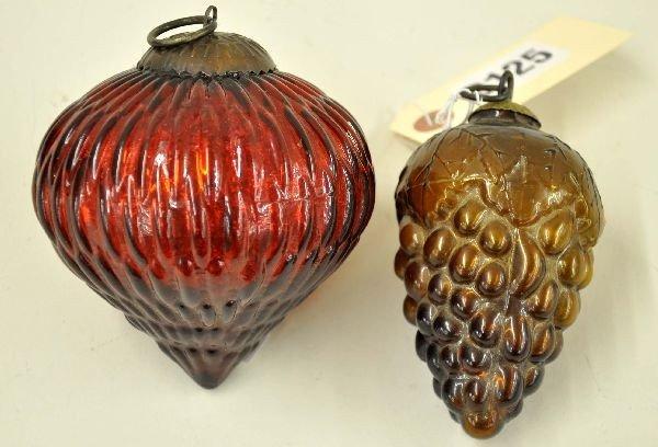 125: Vintage Kugel Christmas Ornaments