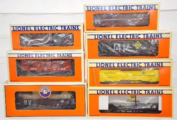 177: Boxed Lionel Erie Freight Cars