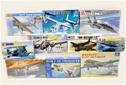 812 10 Boxed 172 Scale Model Airplane Kits