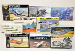 813 10 Boxed 172 Scale Airplane Model Kits