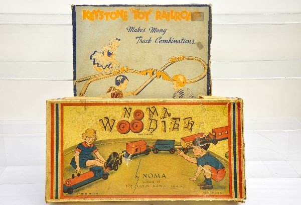 8: Boxed Wooden Toy Train Sets