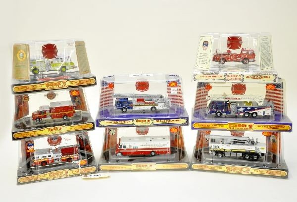 16: 8 Boxed Code 3 Fire Trucks