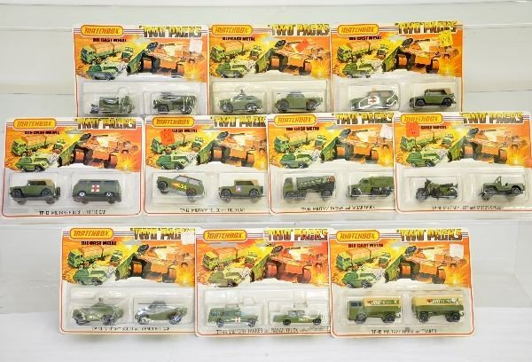 48: Early Matchbox Military Two Packs