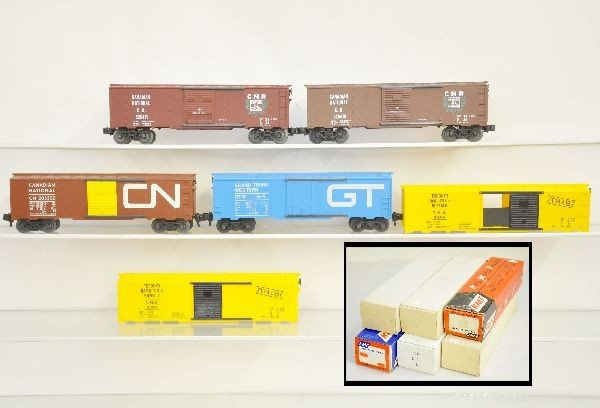 3: 7 Boxed KMT Boxcars Cars