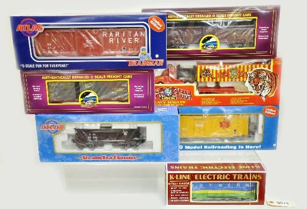 14: 7 Boxed Modern Freight Cars