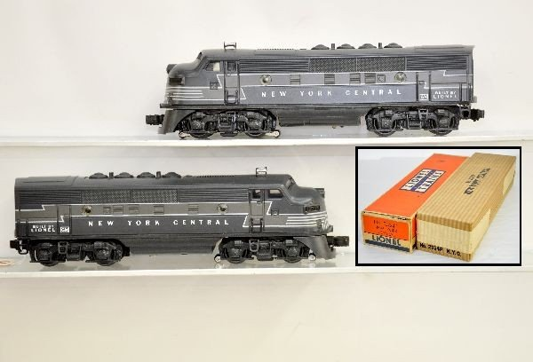 220: Mint Boxed Lionel 2354 NYC Diesels