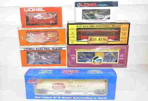 98: 7 Assorted Modern Freight Cars, Plus