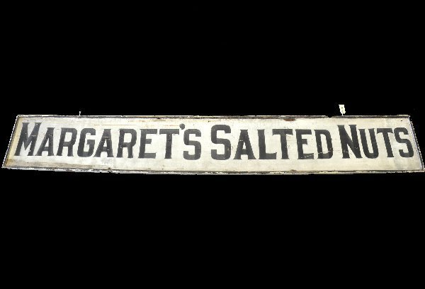 1: Large Wooden Salted Nuts Sign