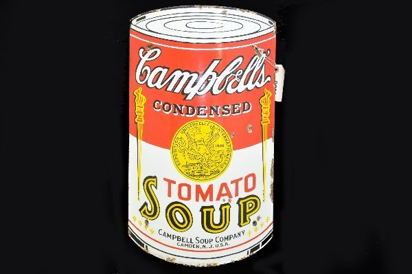 8: Scarce Campbell's Soup Porcelain Sign