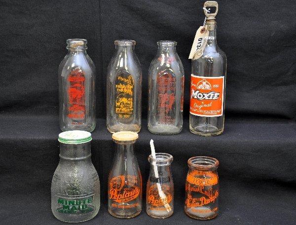15: 8 Pc Glass Bottle Lot