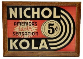 Nichol Kola Tin Sign