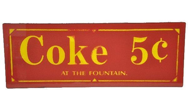 73: Unusual Glass Coke Sign