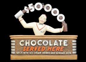 Scarce Deco Rexall Chocolate Sign