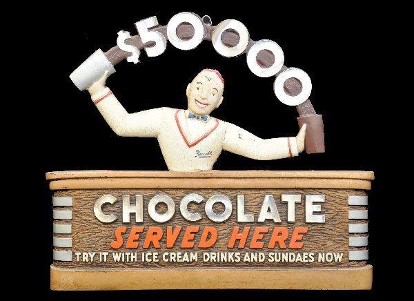 75: Scarce Deco Rexall Chocolate Sign