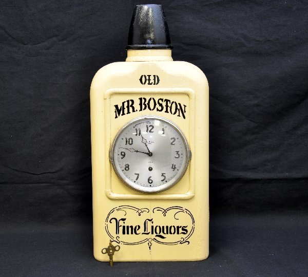 76: Early Old Mr. Boston Whiskey Clock