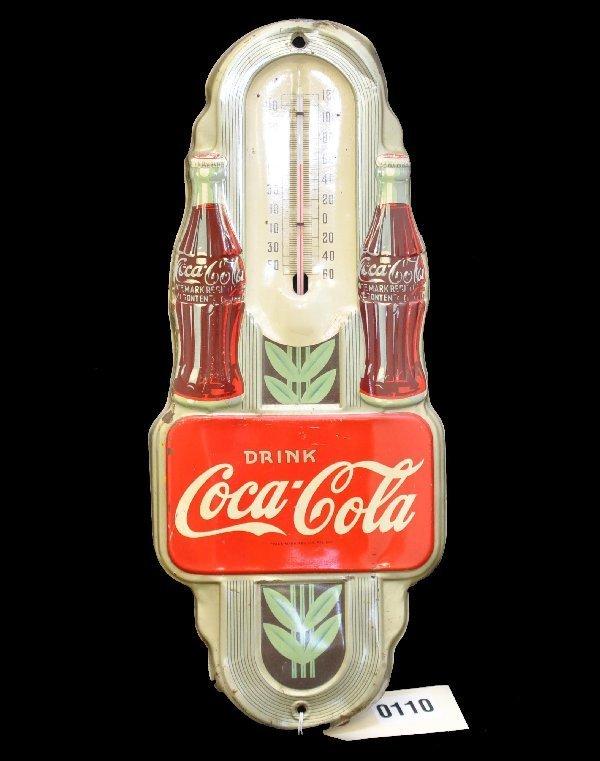 77: Unusual Art Deco Coca-Cola Thermometer