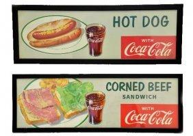 2 -1953 Coca-Cola Diner Signs