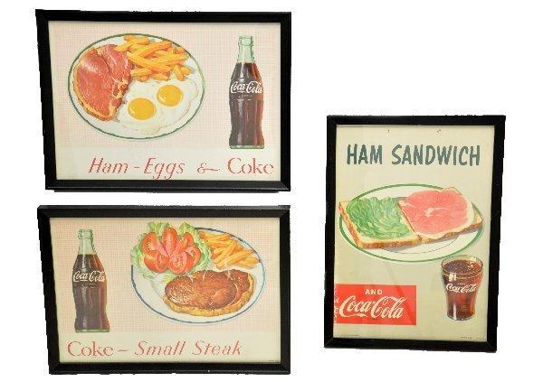 80: 3- 1953 Coca-Cola Diner Signs