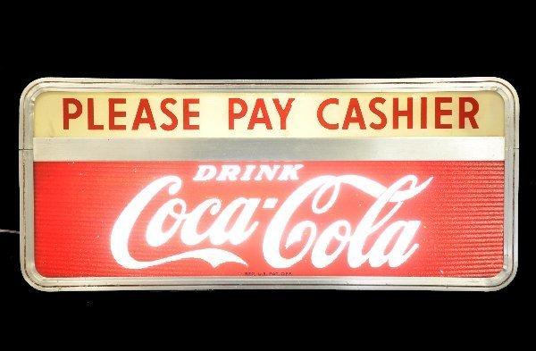 82: Unusual Coca-Cola Cashier Sign