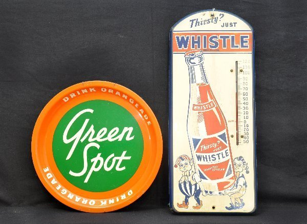 90: Vintage Soda Thermometer & Tray