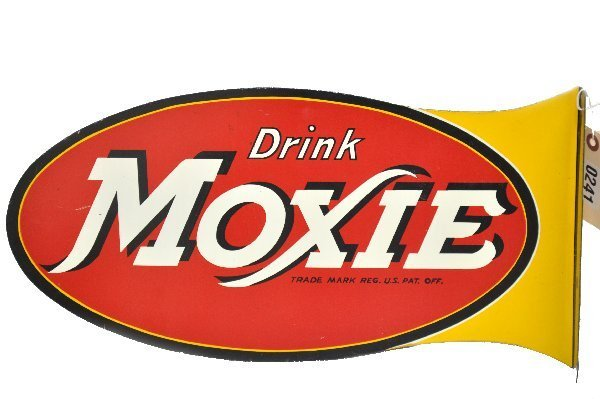 92: Early Moxie Soda Flanged Sign