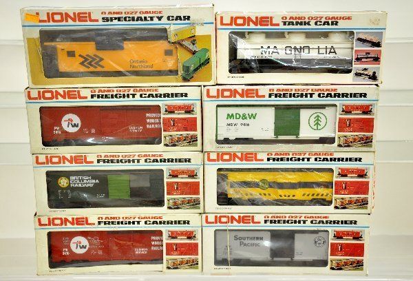 13: 8 Boxed Lionel MPC Freight Cars