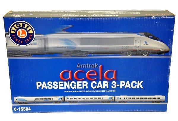 21: Boxed Lionel 15584 Acela Car Set