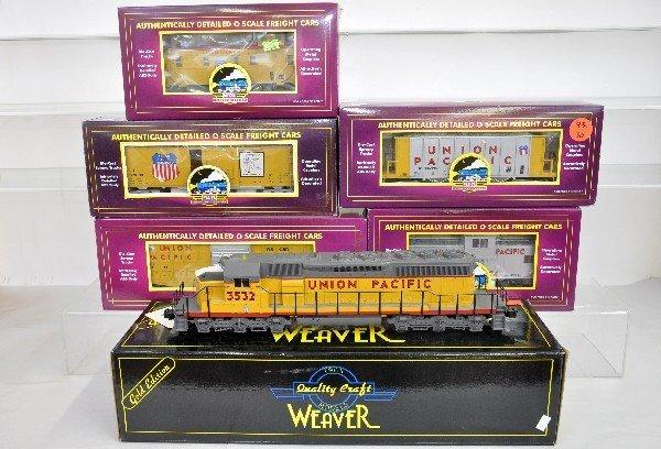 12: 6Pc. MTH / Weaver UP Diesel Freight Set