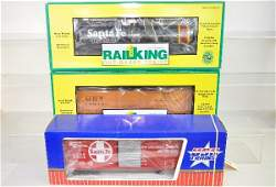303 3 Boxed RailKing  USA Freight Cars