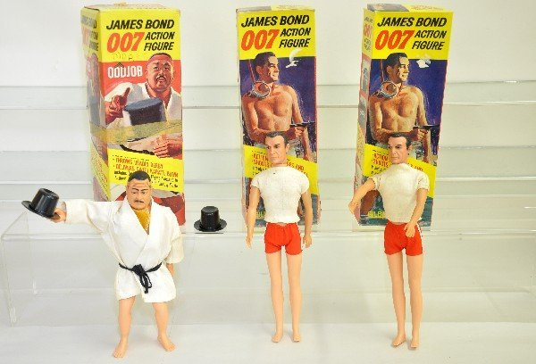 400: 3 Boxed AC Gilbert 007 Action Figures