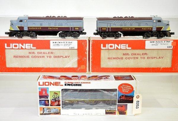 5: Lionel MPC CP F3  ABA Diesels