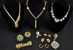 361 Signed Vintage Costume Jewelry Lot