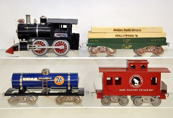 18: 4 Pc McCoy Steam Freight Set