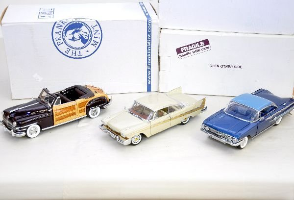 10: 3 Franklin Mint 1:24 Scale Vehicles