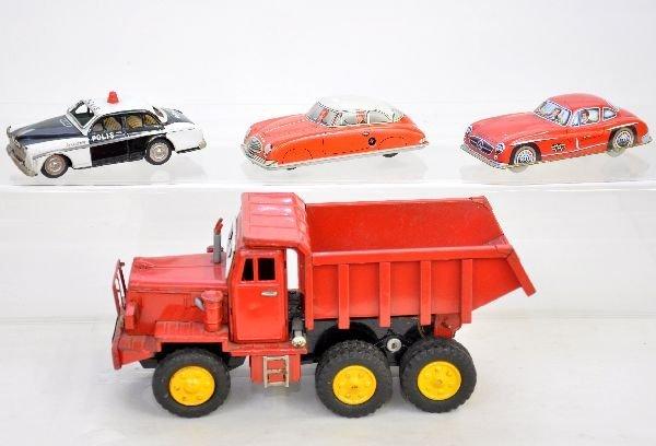 11: 4 Vintage Tin Vehicles