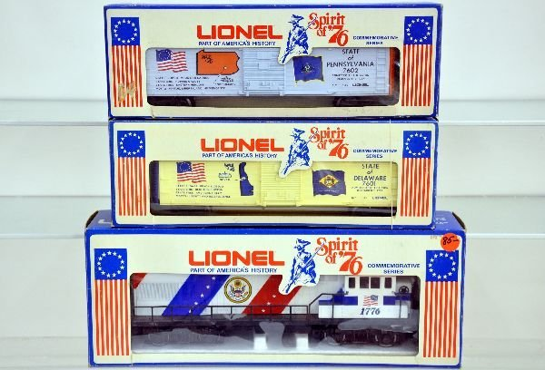 3 Lionel MPC 1976 Pieces