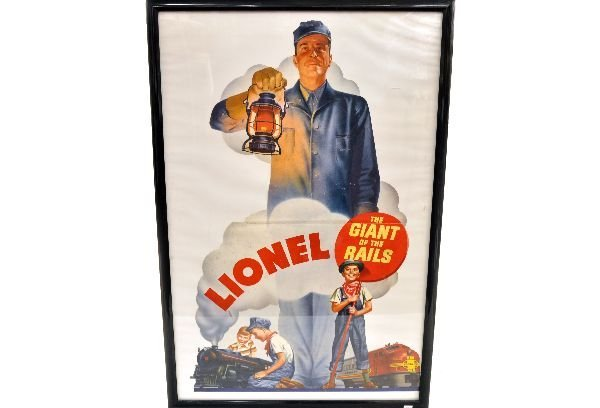 Unusual Lionel Store Display Poster