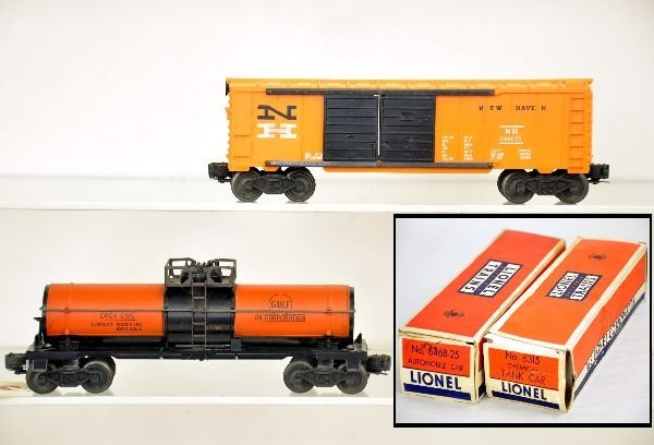 Boxed Lionel 6315 & 6468-25 Freight Cars