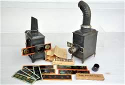 2 German Magic Lantern Toys