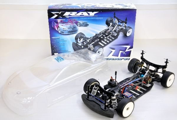 X RAY T1 RC Car and Clear Shell