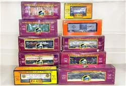 10 MTH & Lionel Freight Cars