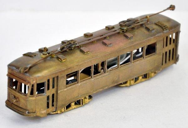 Brass HO Trolley Car