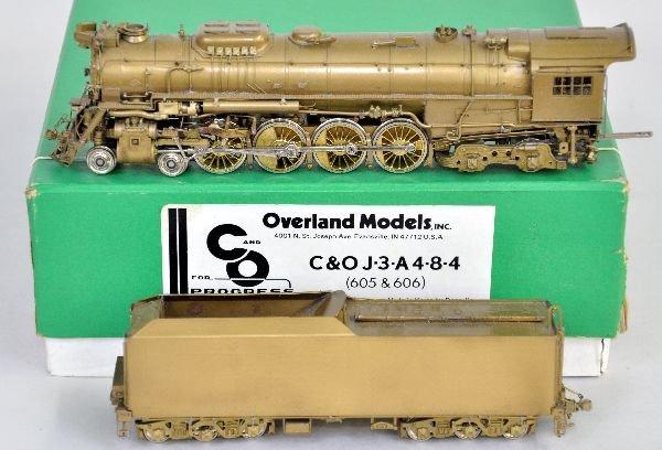 Overland HO Brass C&O J3s Locomotive