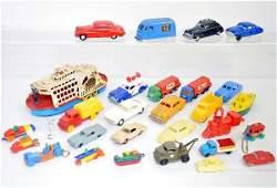 Large Group Of Hard Plastic Vehicles