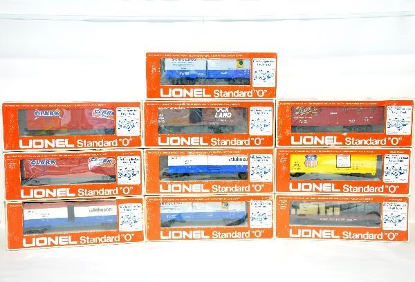 10 Lionel MPC Standard O Freight Cars