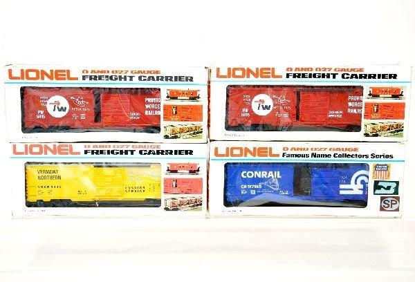 4 Lionel NETCA Box Cars
