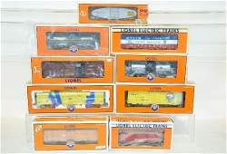 9 Pc Lionel Modern Freight Car Lot