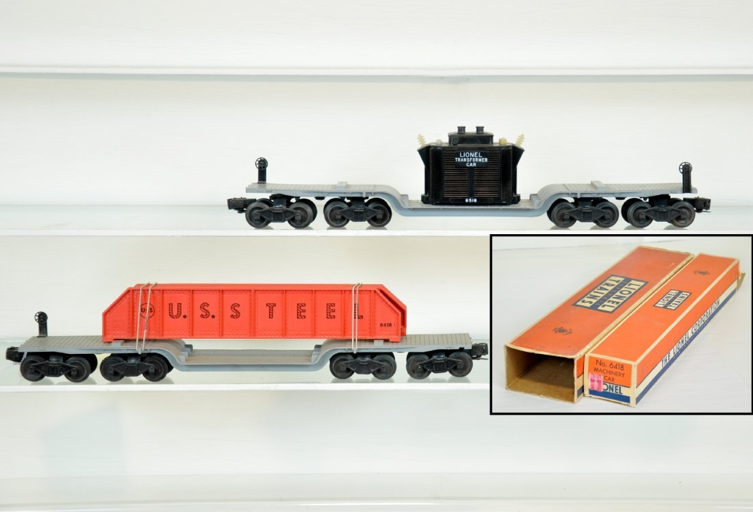 Boxed Lionel 6418 & 6518 Flat Cars